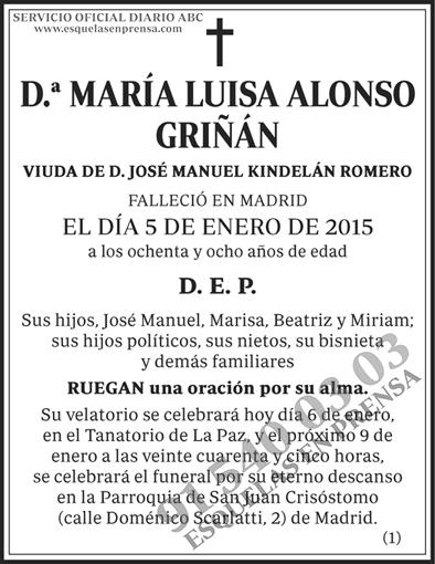 María Luisa Alonso Griñán